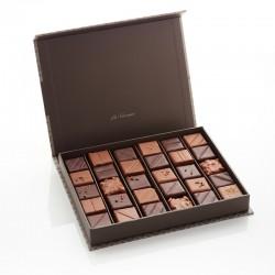 Coffret Damier deux chocolats